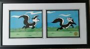 Le Pursuit Pepe Le Pew Kitty Chuck Signed Limited Edition Cel Warner Bros