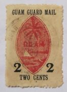 Early Us Local Guam Guard Mail M4 Scarce Used Example Sep 22 1930 Agana Postmark