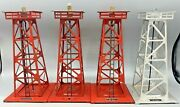 Lot Of 4 Vintage O Lionel 494 3 And 394 1 Metal Beacon Lionel Corp. N.y.