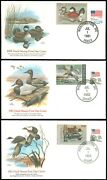 Us 1981-84 Lot/5 Duck Stamp Fdc Covers, Wash Dc And Des Moines Ia Cds's Garyposner