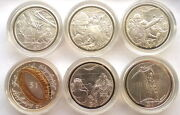 New Zealand 2003 Lord Of The Rings Set Of 6 Silver Coinsproofrare