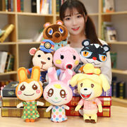 10and039and039 Animal Crossing Tom Nook Chrissy Bunnie Flora Tasha Plush Toy Doll Gift New