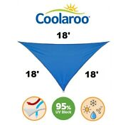 New Coolaroo Coolhaven Shade Sail 18' Triangle Sapphire Blue