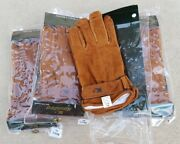 Nwt Lot Of 40 Kampro Brown Suede Leather Riding Gloves Mens Sizes