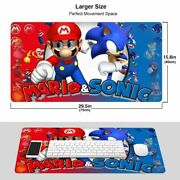 Mario And Sonic Battle Large Gaming Mouse Pads Extended Desk Mat Anti-slip Rubber