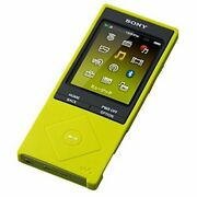 Sony Walkman A Series Dedicated Silicon Case Lime Yellow Ckm-nwa10 Ym New E