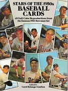 Stars Of 1950s Baseball Magazine 1953 Color Bowman 48 Style Cards Mantle Nice