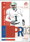 2003 Sp Game Used Edition 135 Charles Rogers Rc /600 - Nm-mt