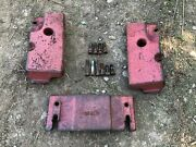 Ih Farmall 340 Row Crop Complete Front Weight Set Rare