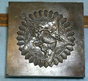 1890-1910 Ioof Grand Lodge Illinois Large Jewel Medal Stamping Die Odd Fellows