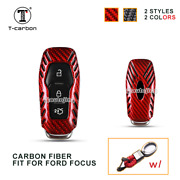 Real Carbon Fiber Key Fob Case Shell Cover For Ford Focus Mondeo Edge Smart Key