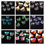 Faceted Glass Crystal Butterfly Design Beads Spacer Jewelry Loose Findings 14mm