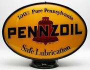 Pennzoil Oval Gas Pump Globe - Ships Fully Assembled Made In The Usa