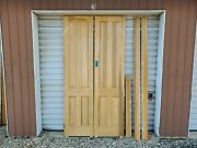 Unfinished Pair Of 4 Panel Doors With Jamb 24 By 96 Shipping Options