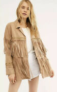 New 500 Free People Fringe Embroidered Jacket For Brenda Knight Size Small