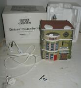 Vintage Dept 56 King's Road Post Office Dickens' Christmas Village House In Box