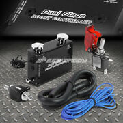 Black Dual Stage Electronic Turbo/turbocharger Psi Boost Controller Kit/w Switch