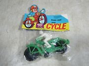 Vintage 1970's Dime Store Motorcycle Toy Hong Kong Nos Nadel Toys Of Joy