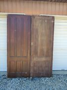 Antique Pair Of Victorian Blind French Doors 36 By 96 Shipping Options