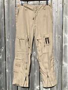 Canadian Helicopter Tactical Pants Desert Tan Size 6732 Small 32s Flame Resist