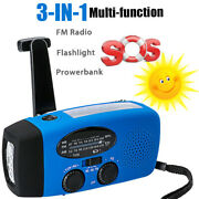 3in1 Emergency Charger Flashlight Hand Crank Wind Up Dynamo Fm/am Radio Charger