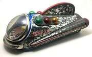 Antique Arnold Tin Apolo Space Ship Toy W/battery Mechanism, Japan