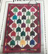 """Sweetwater Ridge Trees Rotary Quilt Pattern Made Of Log Cabin Blocks 44""""x67"""""""