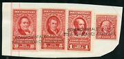 United States Revenuedocumentary Stamps Used On Paper As Shown