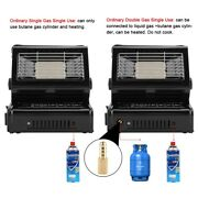 1.3kw Portable Outdoor Gas Heater Bbq Grill Warming Heating Stove Camping Stove
