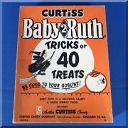 Baby Ruth Bar Curtiss Candy Halloween Tricks Or Treats 2 Cents Store Display Box