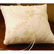 Ivy Lane Design A01120rp/wht Victorian Ring Pillow In White