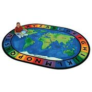 Carpets For Kids 4108 Circletime A Round The World 8.25 Ft. X 11.67 Ft. Oval ...