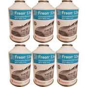 Chemours Dupont R134a Refrigerant 134a Freon Self Sealing 6 A/c 12oz Cans