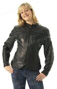First Manufacturing The Maiden Sporty Naked Cowhide Scooter Jacket - Lg