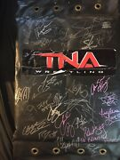 Tna Wrestling Autographed Turnbuckle Signed By Over 40 Used Wcw Impact Wwe Aew