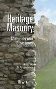 Heritage Masonry Materials And Structures By S Syngellakis English Hardcover