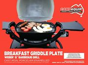 Griddle Plate Full Size Cast Iron For Weber Style Q100 Q120 Q1000 Q1200
