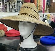 Lifeguard Palm Straw Sun Hat Extra Wide Brim 4 Different Styles