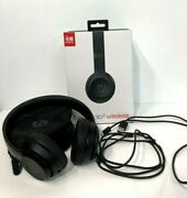 Black Beats Solo3 Wireless, On-ear Headphones, With All Cords And Portable Case
