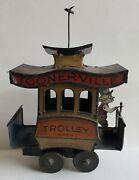 1922 Very Clean Toonerville Trolley In Original Condition Made In Germany
