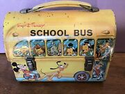 Disney The School Bus Vintage Lunchbox With Thermos
