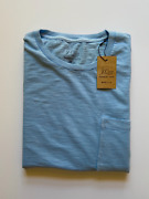 J Crew Mens Pocket T-shirt Nwt Sky Blue Garment Dyed Up To 60 Off Msrp