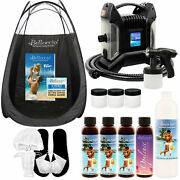 Ultra Pro Sunless Airbrush Hvlp Spray Tanning System Simple Tan 8 Solution Tent