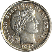 1902-p Barber Dime Great Deals From The Executive Coin Company