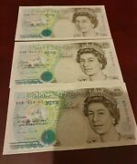 3 Notes All Series B Five Pounds Signed By Gill. All About Unc - Unc
