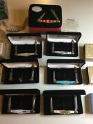 Case Tuxedo 12 Knife Lot 2002-2003 Nib Mother Of Pearl Collectors Club Exotic