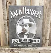 Jack Daniels Old Time Tennessee Whiskey Old No 7 Metal Tin Sign Vintage Bar