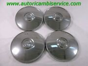 173600 Set 4 Bolts Wheel Covers Hubcaps Cups Chrome Plated Metal Fiat 124