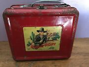 Vintage Hopalong Cassidy Lunch Box By Aladdin Industries 1950 With Thermos