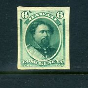 Hawaii Scott 33p3 Plate Proof On India Paper Stamp Stock H 33-p1